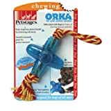 Orka Jack Chew Dog Toy with Rope in Multi Colored Size: Small, My Pet Supplies