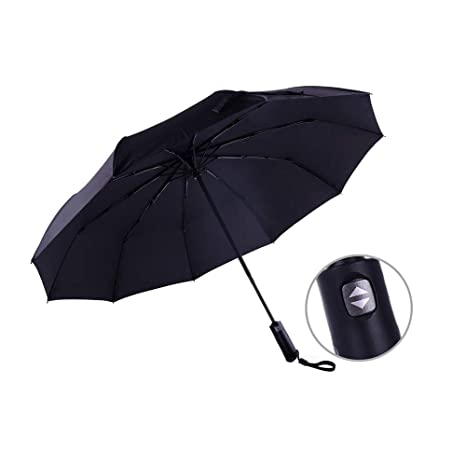 b1bfb593a Image Unavailable. Image not available for. Color: Automatic Umbrella  Ladies Mens Strong Windproof Stormproof Folding Travel Compact ...