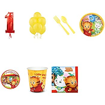 Daniel Tiger Party Supplies 1st Birthday Pack For 16