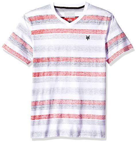 - Zoo York Men's Short Sleeve V-Neck Shirt, Herald Square fire red Medium