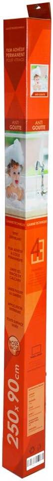 Alldiffusion Films adh/ésifs pour vitrage Anti Calcaire Anti Gouttes 250x90 cm