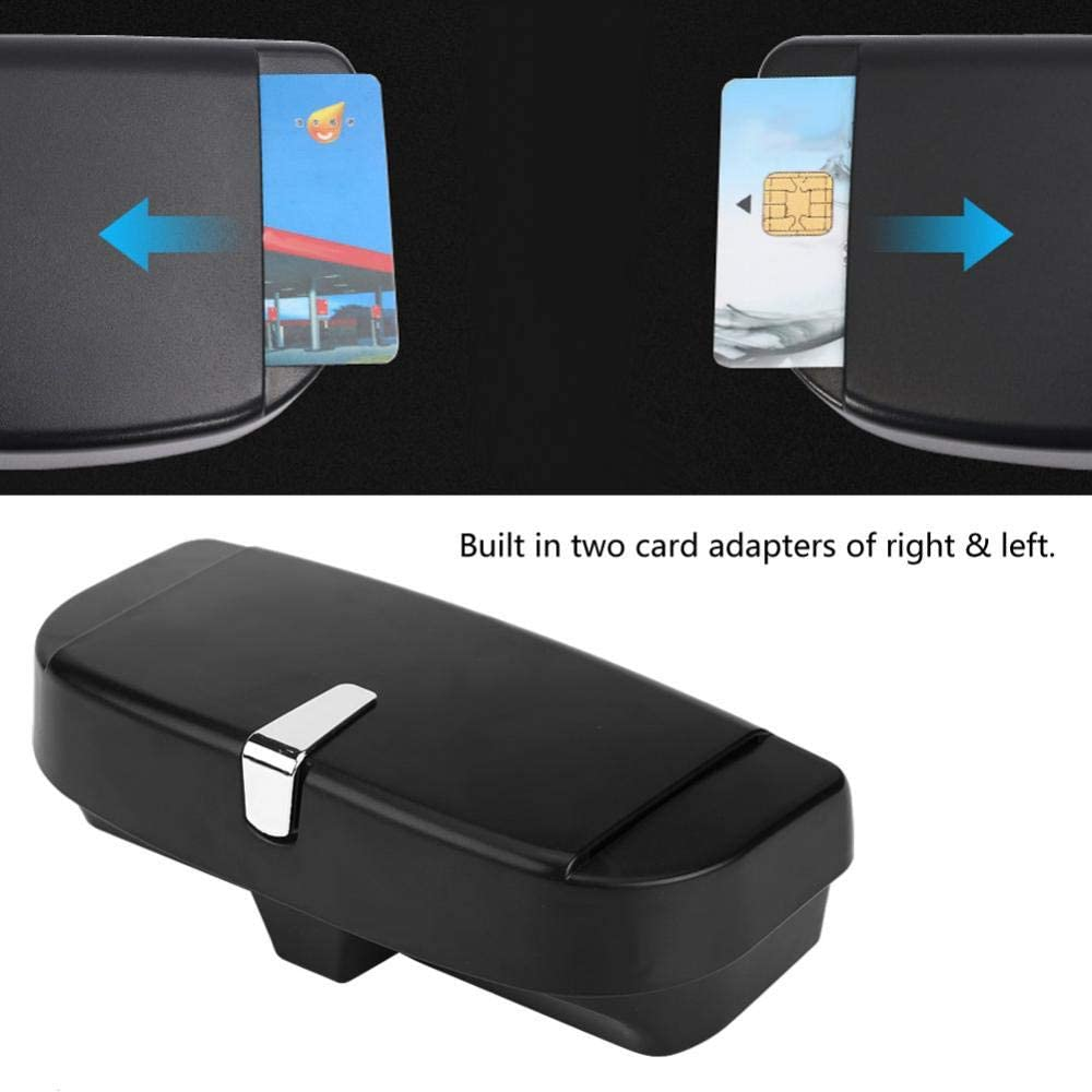 Black Akozon Car Sunglasses Holder Car Auto Versatile Sunglasses Storage Holder Clip Case Organizer Box Universal