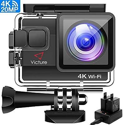 Amazon.com : Victure 4K Action Camera 20MP WiFi Underwater ...