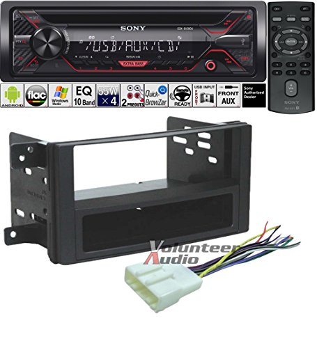 Volunteer Audio Sony CDX-G1200U Double Din Radio Install Kit with CD Player, USB/AUX Fits 2009-2013 Subaru Forester, 2008-2014 Subaru Impreza