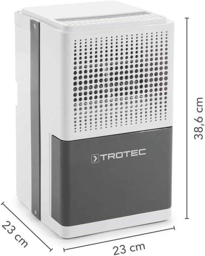 TROTEC Deshumidificador eléctrico TTK 25 E, 10L/24h, Indicador LED ...