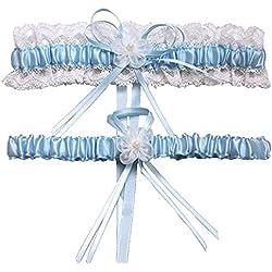 HardNok Throw Away and Keep One Wedding Garter Set, 2 Per Pack, Blue