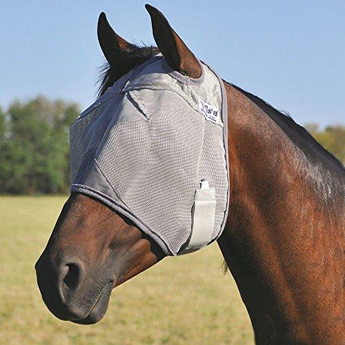 Cashel Crusader Standard Fly Mask No Ears or Nose Gray - Size: (Draft Saddle)