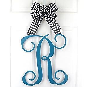Letter Door Hanger | Mom Gifts from Son | Wooden Monogram Door Hanger Wreath | LOTS OF COLORS 106