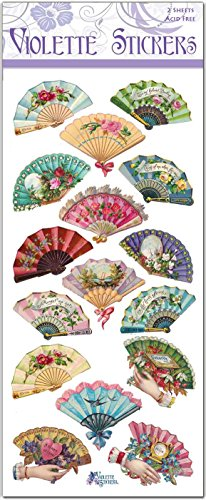 Violette Stickers Victorian Fans ()