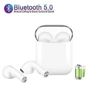Bluetooth Headset,Wireless Headset Bilateral Call Bluetooth Headset 5.0 Ture Wireless Stereo in-Ear Microphones Built-in Handsfree Headphones for Apple Airpods