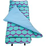 Original Nap Mat, Wildkin Children's Original Nap Mat with Built in Blanket and Pillowcase, Pillow Insert Included, Premium Cotton and Microfiber Blend, Children Ages 3-7 years – Big Dot Aqua
