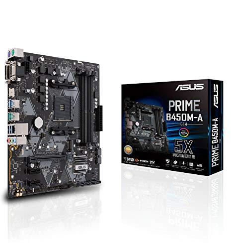 - ASUS B450 AMD Ryzen 2 Micro ATX Gaming Motherboard AM4 DDR4 HDMI DVI VGA M.2 USB 3.1 Gen2 (Prime B450M-A/CSM) (Renewed)
