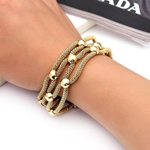 supply fashion simple hollow jewelry magnet buckle alloy rhinestone bracelet Yiwu Small Commodity,Rose gold by Yntmerry (Image #2)'