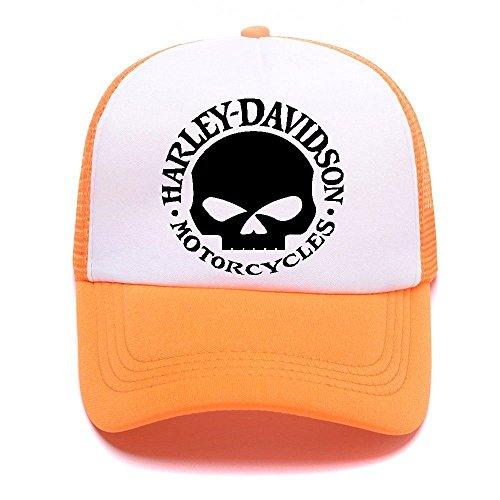 Harley D Black Baseball Caps Gorras de béisbol Trucker Hat Mesh Cap For Men Women Boy Girl 001 Orange