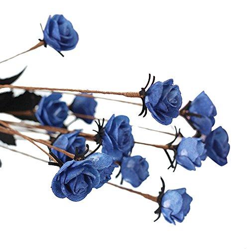 Alelife Artificial PE Fake Flowers Rose Floral Wedding Bouquet Bridal Hydrangea Wedding Party Decor Salon Plants 2019 ()