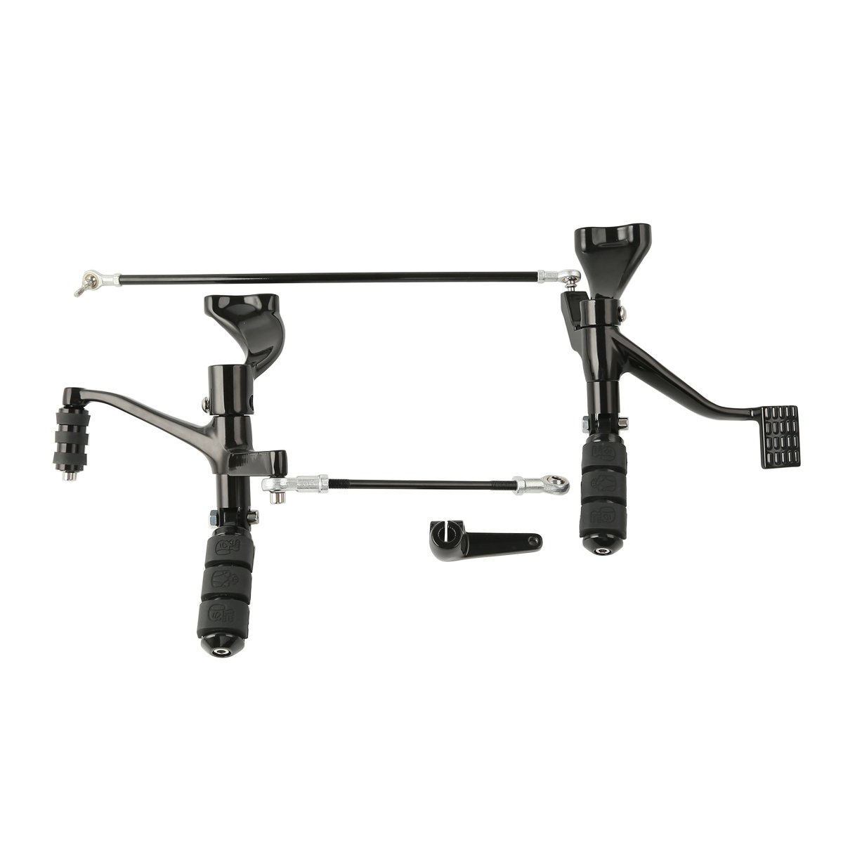 XMT-MTOT Black Forward Controls Kit Pegs Levers Linkages For Harley Sportster 2014 2015 2016 2017 2018