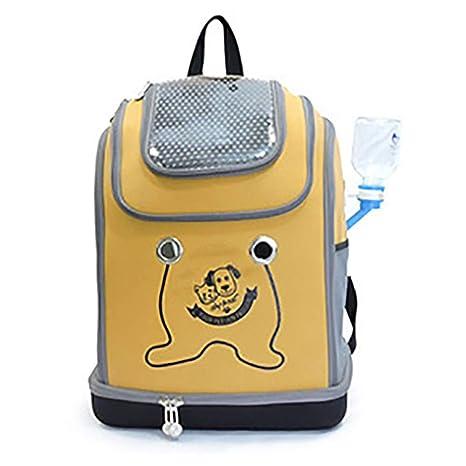 QNMM Mochila Portadora De Mascotas para Gatos Pequeños Y Perros Malla De Lado Suave Paquete De