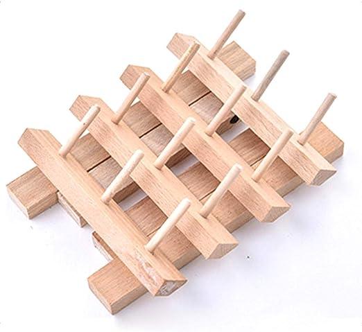 Soporte de hilo para máquina de bordar, 12 bobinas de madera para ...