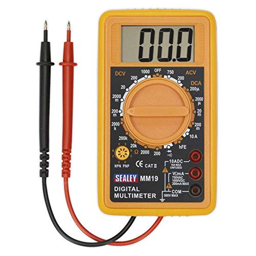 Tools & Equipment Sealey MM20 Digital Multimeter 8 Function with
