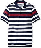 IZOD Men's Advantage Performance Stripe Polo (Regular and Slim Fit), Block Stripe Red, XX-Large