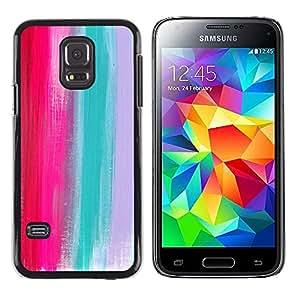 DEMAND-GO ( NO PARA S5) Smartphone Rígido Protección única Imagen Carcasa Funda Tapa Skin Cover Case Para Samsung Galaxy S5 Mini, SM-G800 - palette pink teal grey