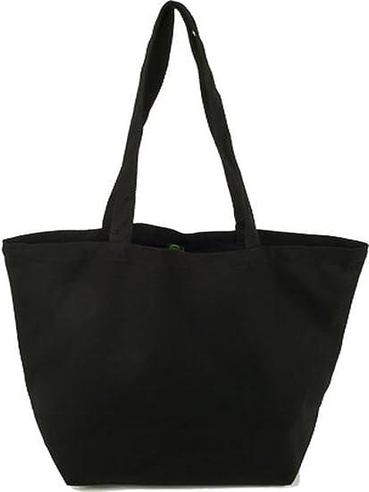 Amazon.com: Organic Sacks & Totes Black Canvas Tote Bag 19