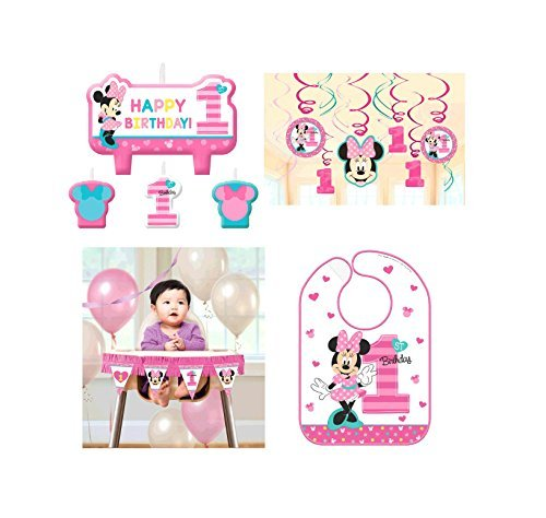 Amscan Minnie Mouse Fun to Be One 1st Birthday Party Kit for $<!--$21.85-->