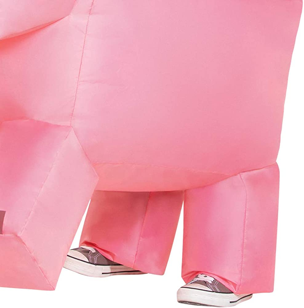 up to 7-8 Pig Ride-on Inflatable Costume for Kids One Size
