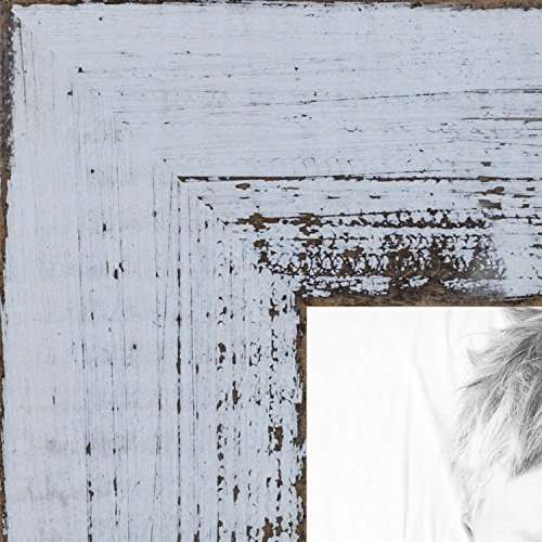 (ArtToFrames 11x14 inch Distressed White Wood Picture Frame, WOMSM-ECO095-WHT-11x14)