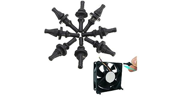 chengyida 32 unidades silicona goma Ventilador tornillo para pantalla plana anti vibración refrigeración PC caso: Amazon.es: Hogar