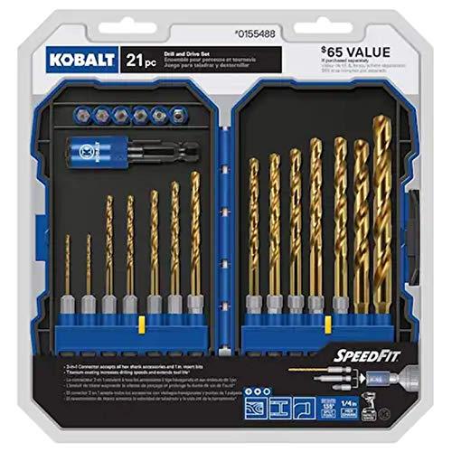 Kobalt 21-Piece Titanium Metal Twist Drill Bit Set