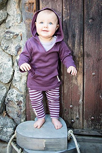 L'ovedbaby Unisex-Baby Newborn Organic Hoodie, Eggplant, 12/18 Months by L'ovedbaby (Image #4)