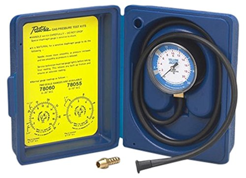 YELLOW JACKET 78060 Complete Gas Pressure Test Kit, 0-35
