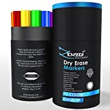 Dry Erase Markers Whiteboard Marker Set Erasable Pens - CHISEL Tip - 13 Vivid, Fresh Colors - You Get FREE Gift eBook - For Kids Office White Board Calendar Not Black Magnetic Bulk Erasers