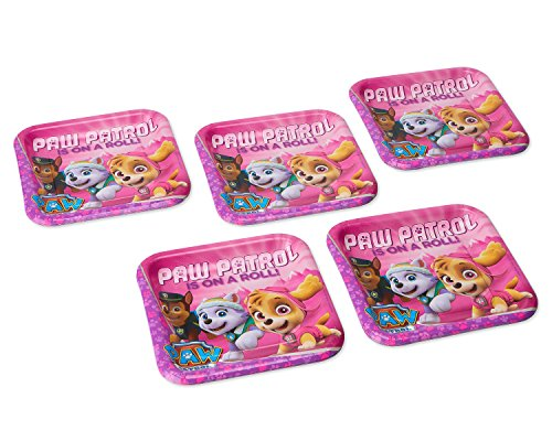 - American Greetings Paw Patrol Pink Dinner Plates Paper, 40-Count, Lunch Plates