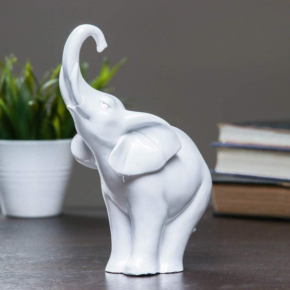 AEVVV White Elephant Statue Figurines Home Decor - Elephant Home Decor - Shelf Decor Items Home Decor White Decor