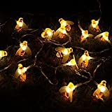 Honeybee Fairy String Lights, ER CHEN 10Ft 20 LED