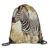 Drawstring Backpack Beautiful Zebra In South Africa Men & Women Yoga Dance Travel Shoulder Bags