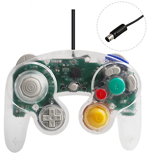 Gamecube Controller Compatible with Nintendo Gamecube Transparent