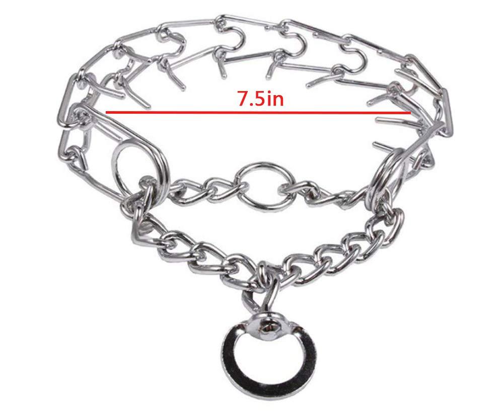 Darkyazi Durable Pinch Collar Stainless Steel Dog Adjustable Pet Training Collar for Medium Large Dogs
