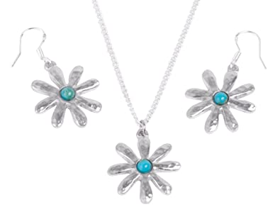 amazon com 10th anniversary gift for her turquoise tin flower