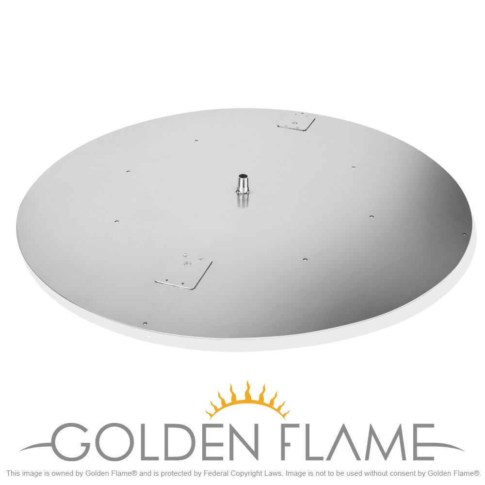 30'' Round Flat Fire Pit Pan (304 Series SS) for use w/24'' Round Fire Ring Burner