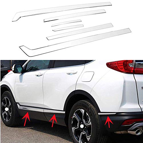 MotorFansClub 6PCS Body Side Door Molding Cover for Honda CR-V CRV 2017 2018 2019 Stainless Steel Protector Cover Trim
