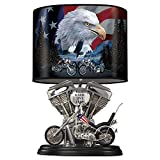 Motorcycle Lamp With Marc Lacourciere And Larry Martin Art by The Bradford Exchange