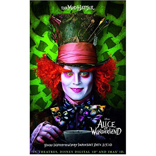 Alice Through the Looking Glass 8x10 Photo Johnny Depp as Mad Hatter Holding Cup & Saucer