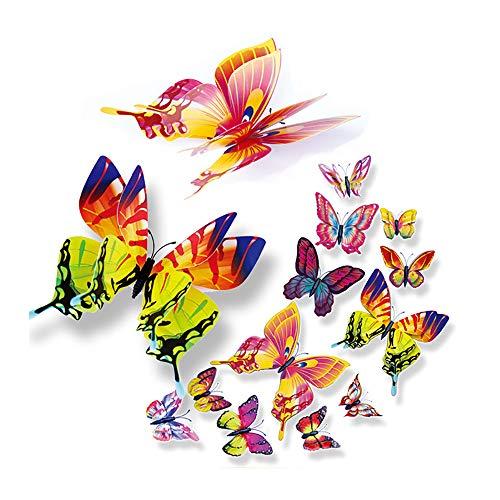 (Wociaosmd DIY Wall Sticker, 3D Wall Stickers Fridge Magnet Home Decor Butterfly Stickers Room Decor (A))
