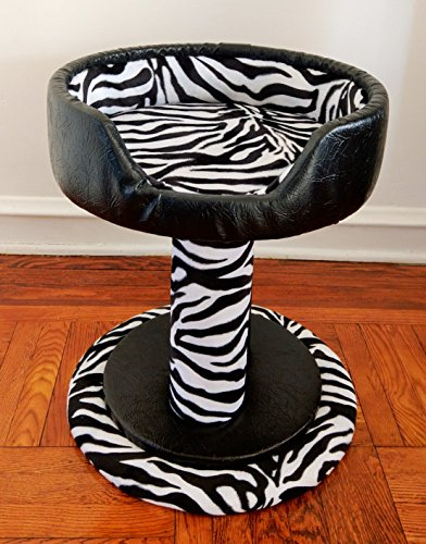 Royal Cat Boutique Ultra Luxury Cat Bed, Onyx Zebra