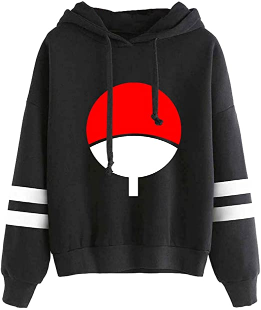 EmilyLe Men Naruto Hoodie The Japanese Anime Naruto Print Sweatshirt Cartoon Hoodie