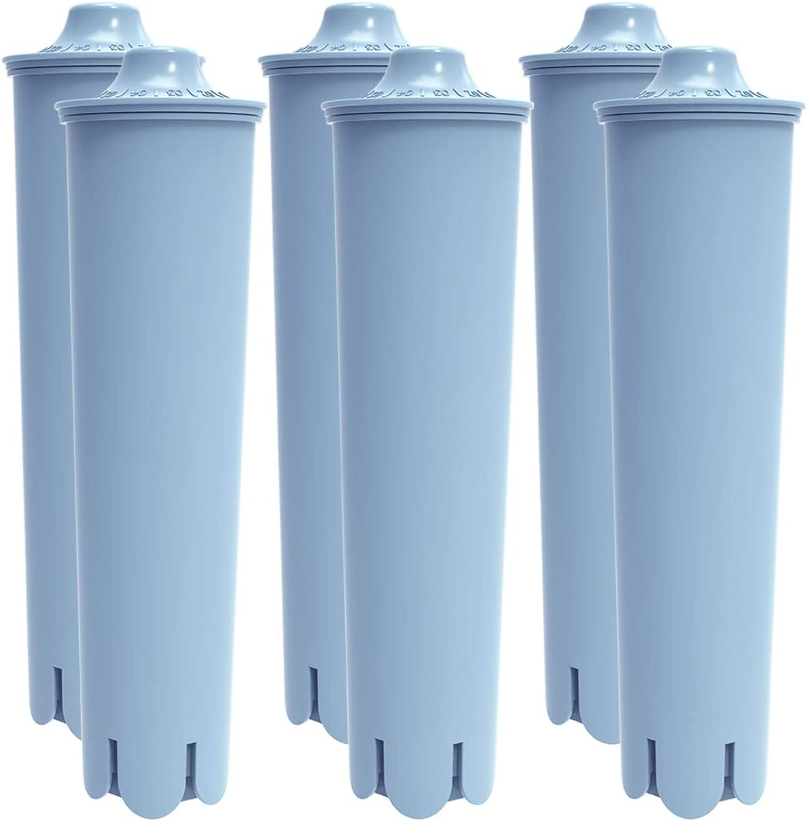 Coffiltro. 6 Packs Compatible mit Jura Clearyl Claris für Coffee Machines Blue Replacement Water Filter