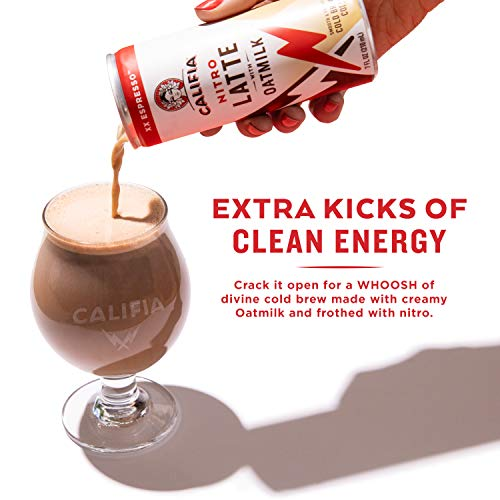 Califia Farms XX Espresso Oatmilk Nitro Draft Latte Cold Brew Coffee, 7 Oz (12 Cans) | Dairy Free | Gluten Free | On-the-Go | Clean Energy | Plant Based | Non-GMO